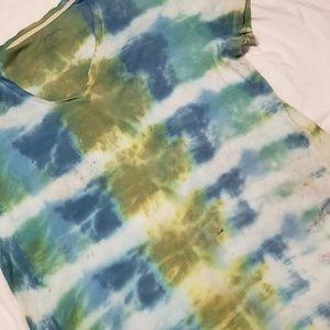 Croft and Barrow Tye Dyed Tshirt Boho Hippie XL